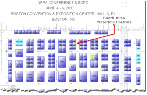 NFPA 2017 map of booth 984